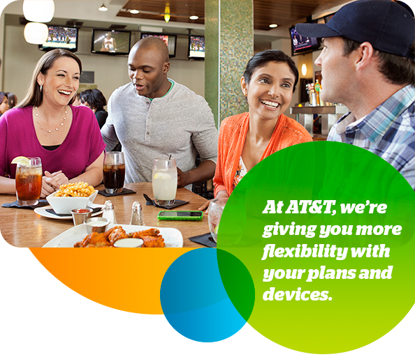 At AT&T, we're giving you more flexibility with your plans and devices.
